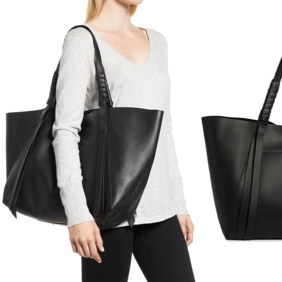 af89211ea8cd All Saints Handbags - Large All Saints Black Voltaire East West Tote Bag